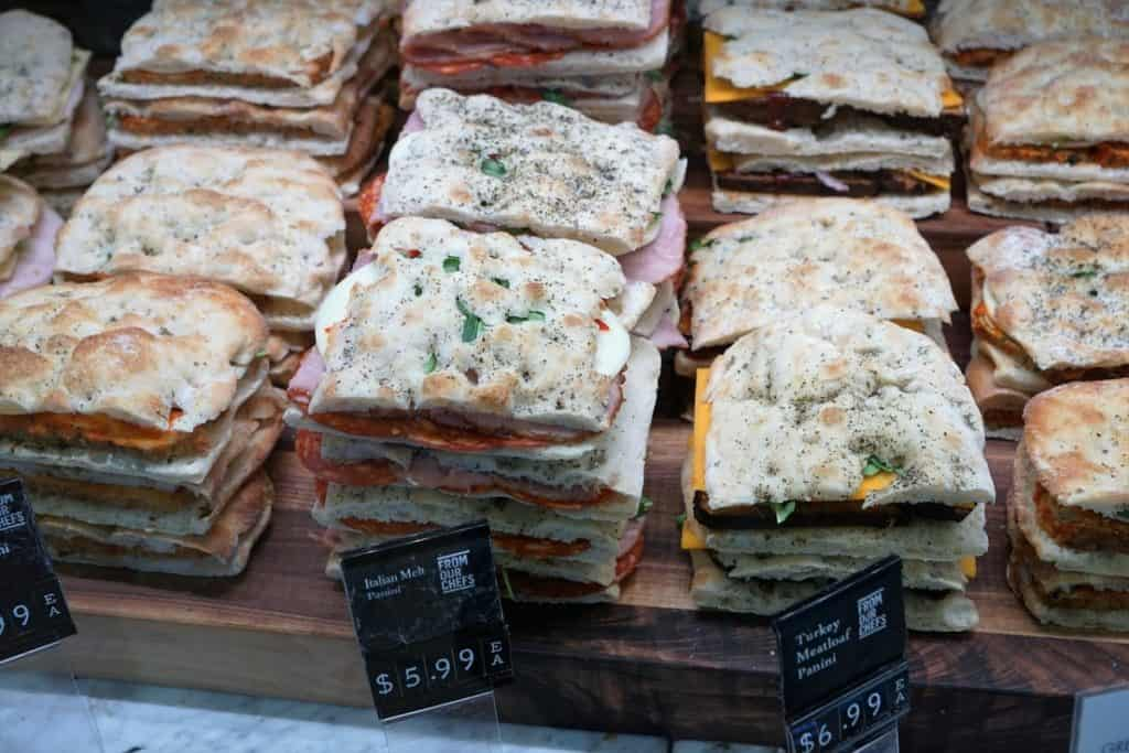 paninis containing deli meat