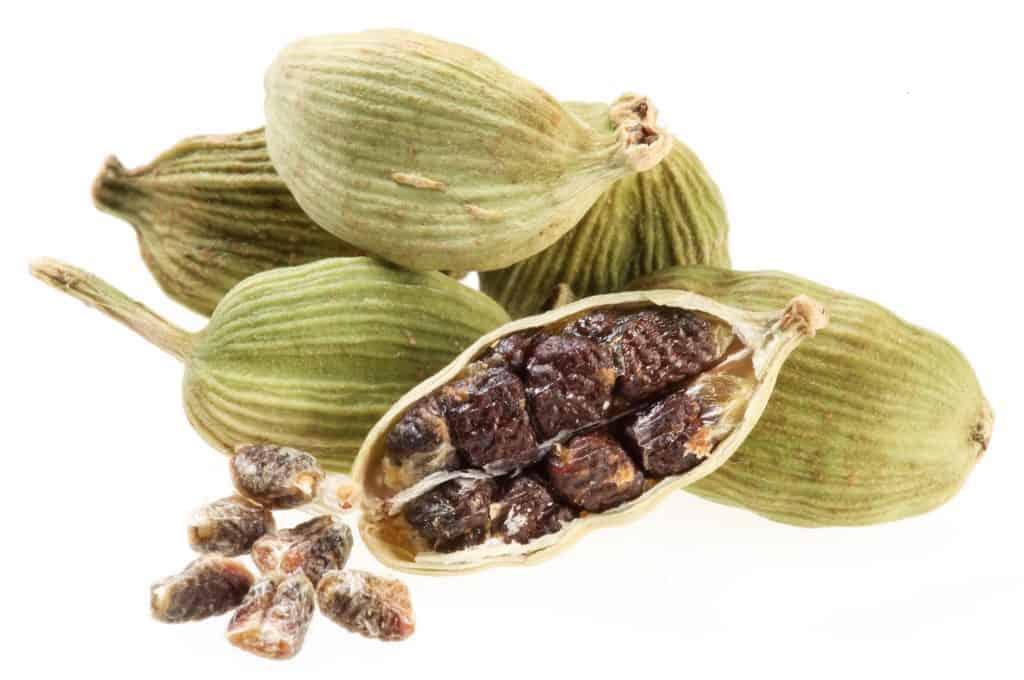 cardamom pod showing the seeds