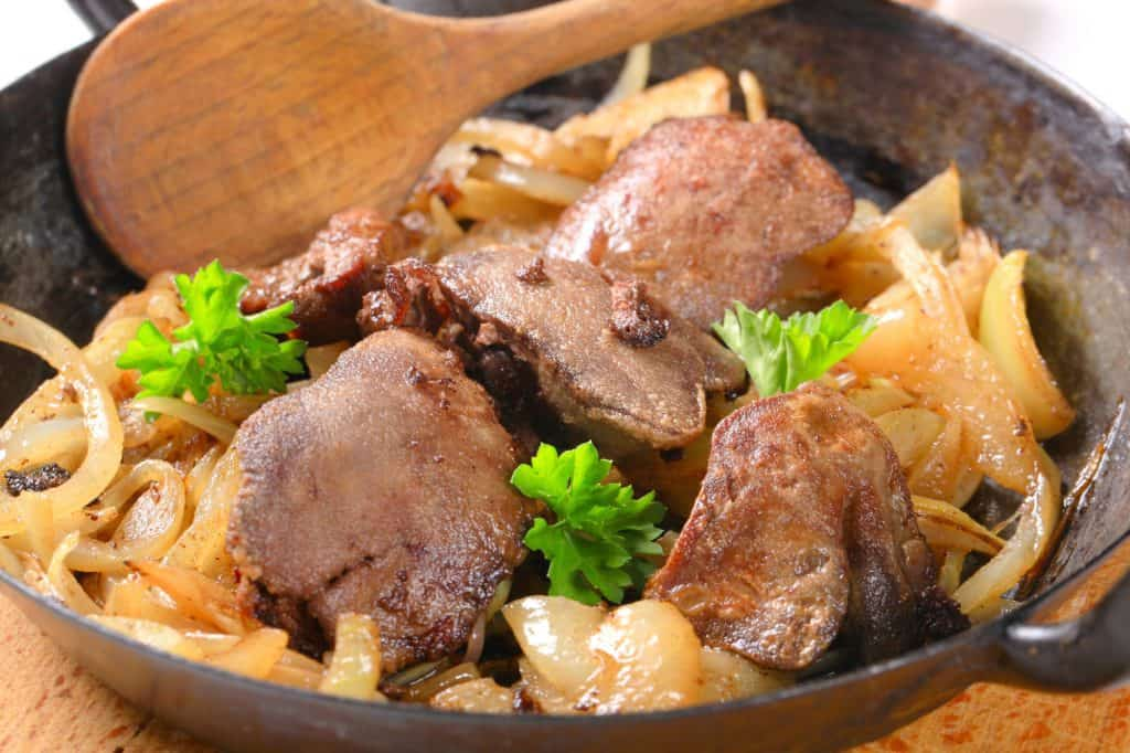 pan fried liver and onions