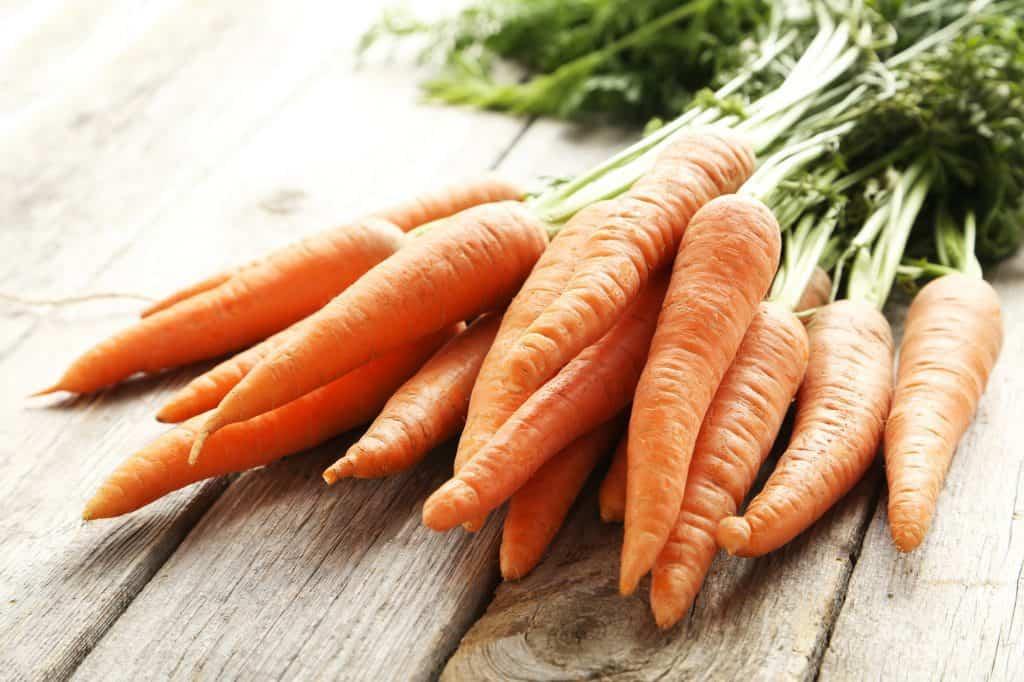 Carrots - a source of beta-carotene