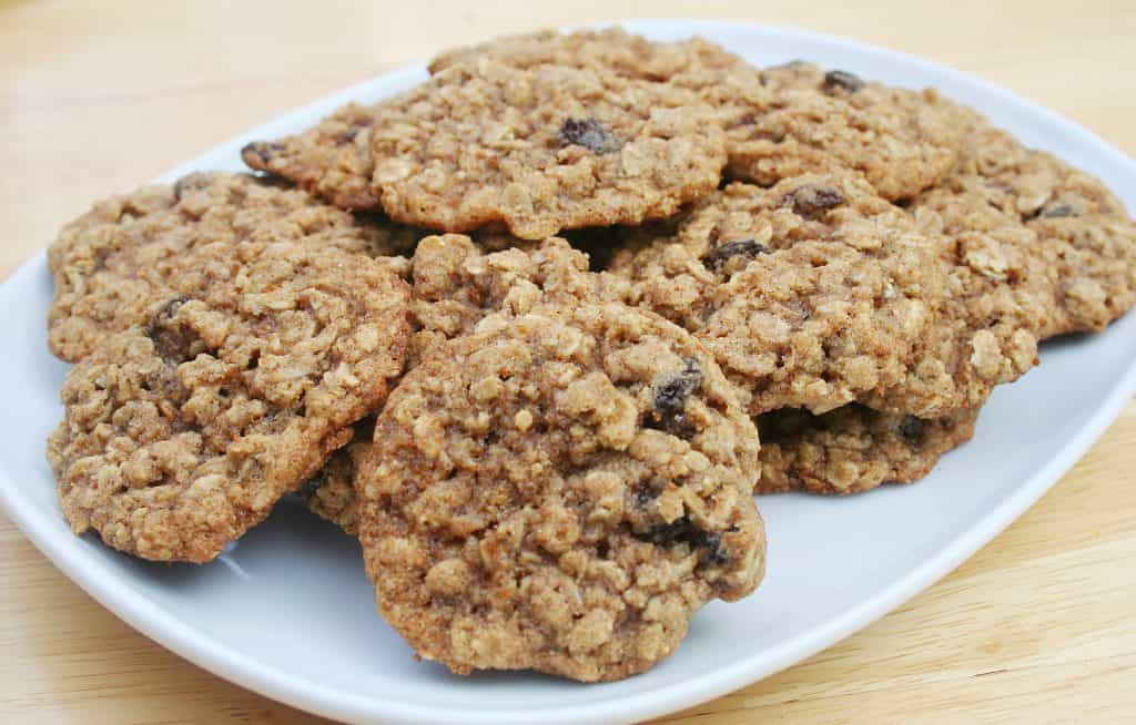 lactation cookies on a white plate