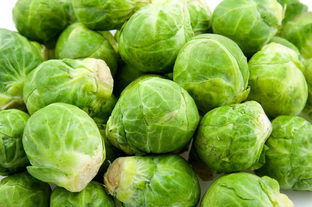 pile of fresh brussels sprouts