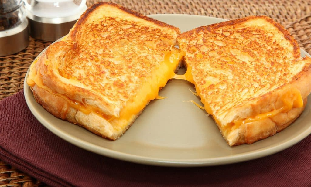 grilled fontina cheese sandwich on a plate