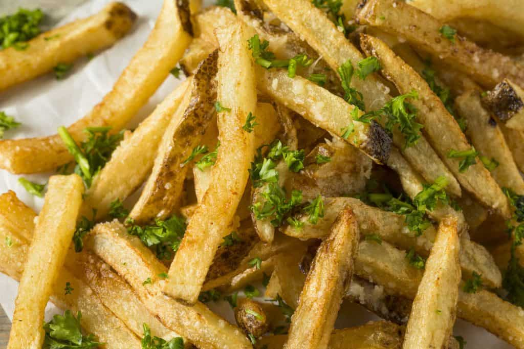 parmesan truffle French fries with Parsley
